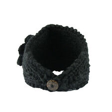 Headband Women Crochet Flower Ear Warmer Hairband Headwrap Cap Hat