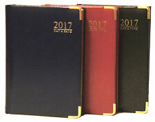 2017 Diary A4/A5 Day a Page/Week to View, Metal Corners,Padded Hardback cover