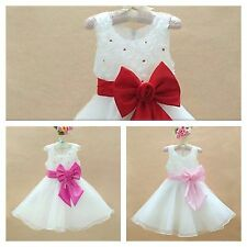 FREE POST Flower Girls Party Bridesmaid Wedding Christening Gliiery Dress 1-3 Yr