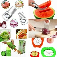 Apple/Watermelon/Onion/Vegetable Cutter Holder Slicer Kitchen Tool Stainless