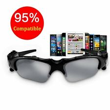For Samsung iPhone HTC LG Mic Wireless Sunglasses Headset Bluetooth Headphone@