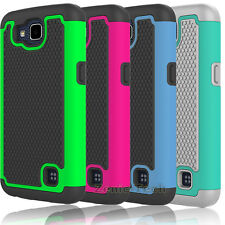 For LG Optimus Zone 3 / K4 Rebel LTE/VS425 Case Rugged Armor Skin Phone Cover