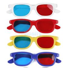 5x Red Blue 3D VISION TV Glasses Cyan Framed for Movie DVD Dimensional Game