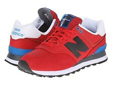 NEW BALANCE ML574ACC ML574 Mn's (M) Red/Blue Suede/Mesh Athletic Shoes