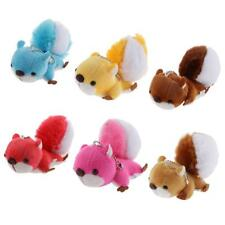 Cute Stuffed Animal Keychain Large Tail Squirrel Bag Charm Soft Plush Toy