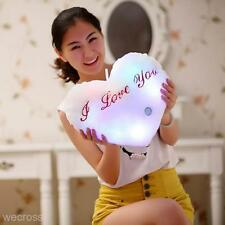 "Popular LED Light Cute Love Heart ""I Love you"" Glowing Soft Plush Pillow Cushion"