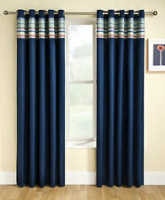 Blue Blockout Thermal Eyelet Ring Top Curtains ✓Boys ✓Kids ✓Childrens ✓Bedroom