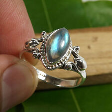 NATURAL LABRADRITE STONE RING 925 SOLID STERLING SILVER RING SIZE 3- 12.5 AVV