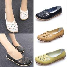 Chic Women Hollow Leather Cut Out Loafer Moccasin Casual Driving Flat Shoes LG