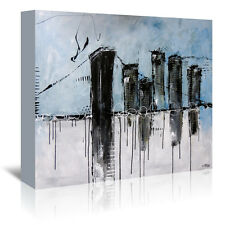Americanflat City (1) by Annie Rodrigue Painting Print on Wrapped Canvas