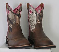 Ariat Fatbaby Cowgirl Boots Distressed Brown & Pink Camo Style 10006854