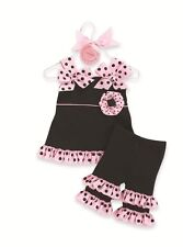 Perfectly Princess Tunic and Ruffle Capri Outfit by Mud Pie NWT 9-12-18m 2T/3T
