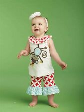 NWT Mud Pie Safari Monkey Tunic and Capri Set 0-6m 9-12-18m 2T/3T