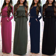 Fashion Women Autumn Long Sleeve Sexy Evening Cocktail Formal Party Maxi Dress K