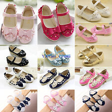 Toddler Baby Girls Princess Kids Flat Sandal Child Casual Bowknot Slip On Shoes