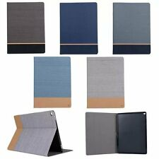 Canvas Leather Smart Stand Card Case Cover For iPad Air 1/2 iPad Mini 1234