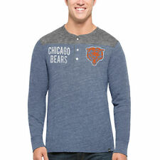 Chicago Bears '47 Neps Henley Long Sleeve T-Shirt - Navy - NFL