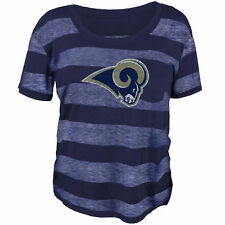 Los Angeles Rams Juniors Bolder Burnout T-Shirt - Navy Blue