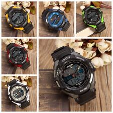 OHSEN Fashion Waterproof Digital LCD Alarm Date Mens Military Analog Wrist Watch