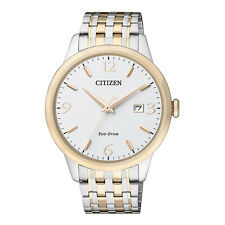 Citizen Analog Business Mens ECO-DRIVE  Silver  Watch BM7304-59A