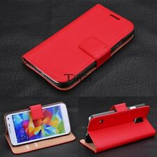 Luxury Genuine Real Leather Flip Case Wallet Cover For Samsung S3/4/5 Note TXCL