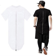 Hip Hop Extended for Tyga Men Swag Back Zipper Streetwear Short Sleeve T-shirt !