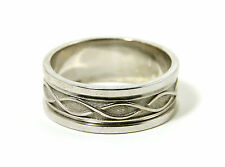 Celtic Weave Ring Mens Sterling Silver Made in Ireland