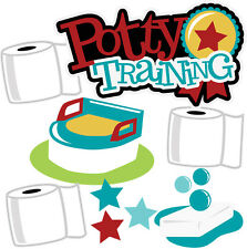 Potty Training Titles Scrapbook Embellishment Paper Piecing  Cardmaking