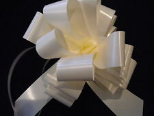 IVORY PULL BOWS AND/OR RIBBON WEDDING CAR DECORATIONS