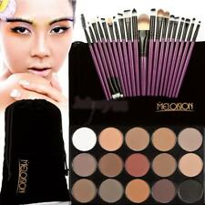 Professional 15 Colors Natural Shimmer Makeup Eye Shadow Palette+20Pcs Brush Set