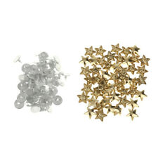 50 Sets Flat Stars Rivet Studs Spike DIY Punk Bag Belt Leathercraft Decoration