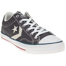 New Mens Converse Grey Star Player Ev Ox Canvas Trainers Lace Up