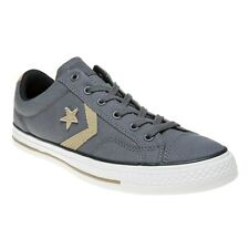 New Mens Converse Grey Star Player Ev Ox Canvas Trainers Plimsolls Lace Up