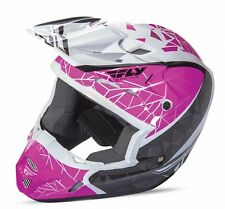 FLY RACING KINETIC CRUX MOTOCROSS ATV MX HELMET PINK/BLACK/WHITE KIDS YOUTH SIZE