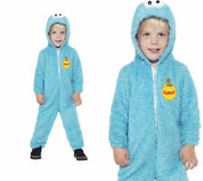 Sesame Street Cookie Monster Costume Childrens Fancy Dress Outfit