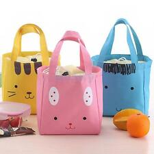 Thermal Insulated Portable Cool Canvas Cartoon Lunch Totes Bag Carry Case Picnic
