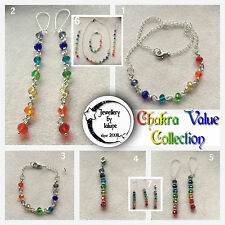 CHaKRa RaiNBoW FaCeTeD GLaSS CRYSTaL VaLue CoLLeCTioN PeNDaNT BRaCeLeT eaRRiNGS