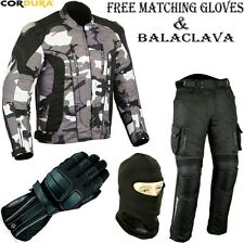 CAMO HAWK MENS CE ARMOUR MOTORBIKE / MOTORCYCLE TEXTILE JACKET TROUSERS SUIT