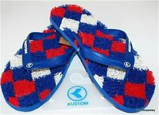 KUSTOM NEW Mens THONGS FLIP FLOPS KADILLAC ARGYLE Down Under Noodle RUBBER Logo
