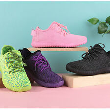 New Women Sneaker Ventilation Flat Mesh Trainer Shallow Round Toe Casual Shoes K