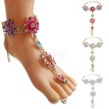 Lady Party Fashion Foot Jewelry Accessory Exquisite Diamond Flower Beach Anklets