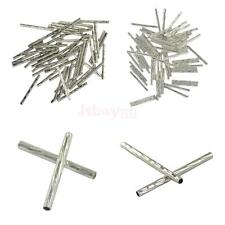 50pcs Metal Engraved Straight Noodle Spacer Tube Beads Jewelry Making Findings