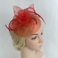 Flower Hair Clip Mesh Feather Fascinator Hat Tea Party Wedding Ladies Fascinator
