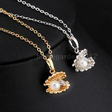 Fashion Women Ladies Pearl Bead Shell Zircon Clavicle Necklace Jewelry Gift T6X1
