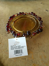 """ARTY BRAND NEW 6"""" CANDLE HOLDER GOLD/AMBER/GOLD  NEW"""