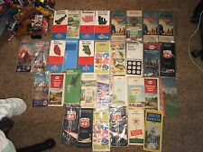 Lot of 33 Antique/Vintage Road maps from 1940's-70's- No Reserve