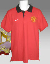 New NIKE MANCHESTER UNITED Football Core Polo Shirt Red M- XL