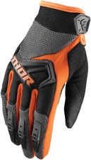 THOR SPECTRUM MOTOCROSS GLOVES MX ATV BMX GLOVE ORANGE ADULT SIZE