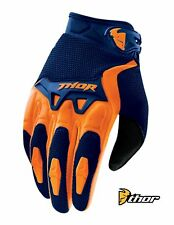 THOR SPECTRUM MOTOCROSS GLOVES MX ATV BMX GLOVE NAVY/ORANGE ADULT SIZE
