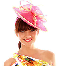 INSTANTLY FABULOUS Fascinator Race Day 3 COLOURS -SINAMAY BOWS-F1451